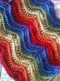 Ravelry: Feather and Fan Blanket #169 (crochet) pattern by Patons. Free crochet pattern.