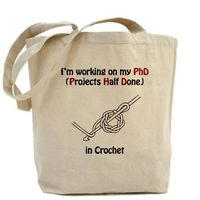 Crochet PhD Tote Bag