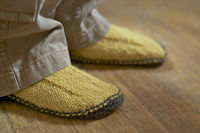 cc2d3c56d44a Posts similar to  Ravelry  Garter Sole Slippers pattern by Elizabeth ...