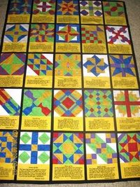 been working on a bible block quilt with the club