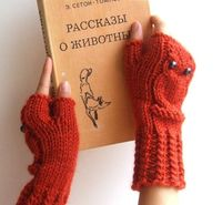 Owl Fingerless Mittens by CozySeason :$39 #Mittens #Fingerless Mittens #Owl Fingerless Mittens #CozySeason