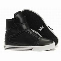 men's supra tk society high tops black leather skate shoes 26177