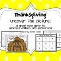 Thanksgiving Freebie: Roll and Uncover Math Game