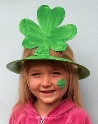 Shamrock Hats Made from Paper Plates