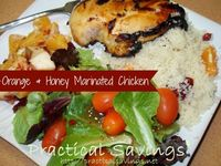 Orange & Honey Marinated Chicken with Couscous