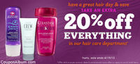 Drugstore Coupon: 20% Off Everything in Hair Care!