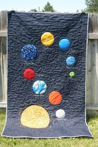 Cool solar system quilt! I love Jupiter's blue fire:)
