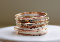 Stackable Rings Silver & Rose Gold