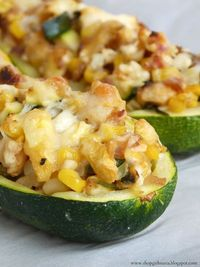 Shopgirl: Stuffed Zucchini Boats