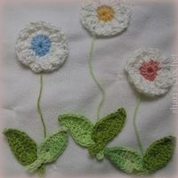 Shari's Crochet Handmade Gifts: Flower and Leaf Appliques.....
