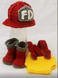 Adorable New Born Fire Fighter Outfit!!