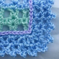 V Stitch Edging for Crocheted Baby Afghan.... also very nice !