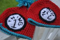 Crochet Thing 1 and Thing 2 inspired Hat Set by AdriannaKnits, $24.00