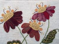 Jacobean flower woolwork