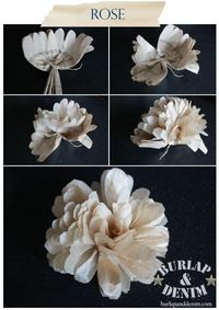 Upcycle old sewing patterns into flowers