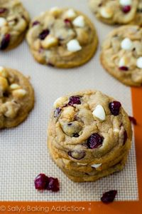 Perfect White Chocolate Chip Cranberry Cookies