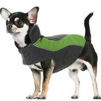 Kakadu Pet Explorer Fleece Reflective Dog Coat, 10`, Grass (Green)