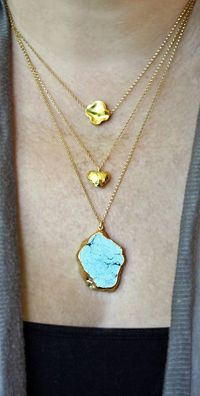 Raw+Turquoise+14k+Gold+Filled+Necklace+by+shopkei+on+Etsy,+$52.00