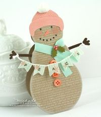 Snowman - love the colors