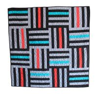 pippapatchwork: Black and Gray Intersecting Stripes - Modern Patchwork Quilt