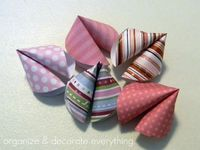 make paper fortune cookies