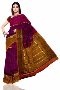 Love to experiment and have fun, then this saree is exactly what you are looking for. This is fascinating happy hyacinth purple pure silk Uppada saree. This pure silk Uppada saree has got all over small zari border along 2 sides border in golden and pur...