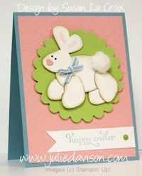 Bunny Punch Art with Butterfly Punch & XL Oval Punch-- card designed by Susan La Croix, stamped by Julie Davison, http://juliedavison.com
