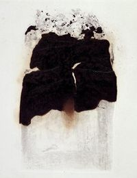 Combustione, Etching and aquatint on bronze and copper plate, Alberto Burri, 1965