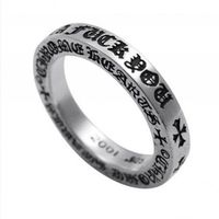 Cheap Chrome Hearts Signature Women Fuck You Silver Ring