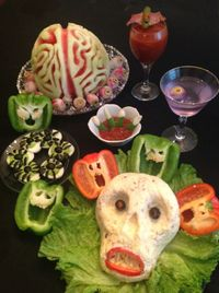 Halloween appetizers, creepy style.