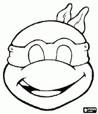 ninja turtles face coloring pages - juxtapost