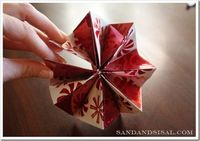 How to make a paper ornament- easier than it looks! (thank God!)