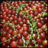 SOUNDING MY BARBARIC GULP!: Roasted Grapes
