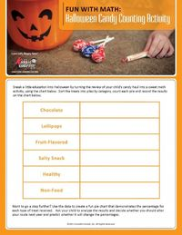 Halloween Candy Counting Activity #halloween #activity #math