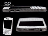 Amosu BlackBerry Q10 With Gold And Diamond