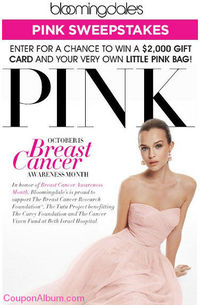 Bloomingdale's Pink Sweepstakes!