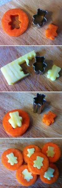 Cheese & Carrot Coins to make for the kids..or husband? lol
