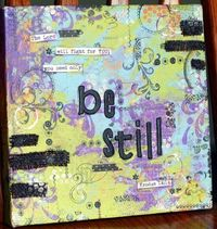 be still mixed media art canvas
