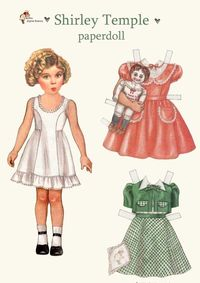 Shirley Temple paperdoll