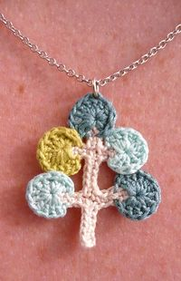 Mod Tree Crocheted Necklace