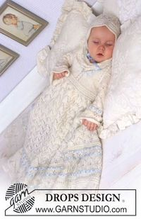 Christening gown, bonnet and jump suit « Knits4Kids free knit pattern