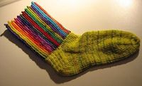 Circus Striped Socks - Knit free pattern
