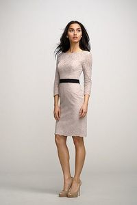 Watters - blush lace over mocha lining - low back.