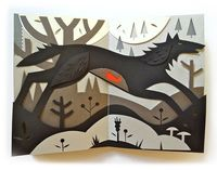 Red Riding Hood /cut paper. Tracy Walker.