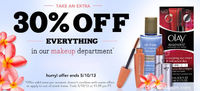 DrugStore Mother's Day Coupon: Extra 30% off Makeup!