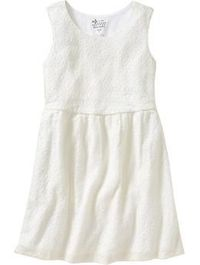 Girls Lace-Eyelet Empire-Waist Dresses | Old Navy
