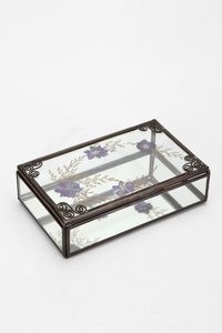 Pressed Flower Glass Box #UrbanOutfitters