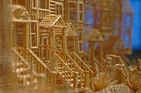 Scott Weavers San Francisco Made of 100,000 Toothpicks Photo