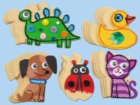 Little artists bring adorable animals to life as they draw, paint & collage on Lakeshore's Design & Draw Animal Shapes!