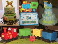Train Themed Shower Cakes